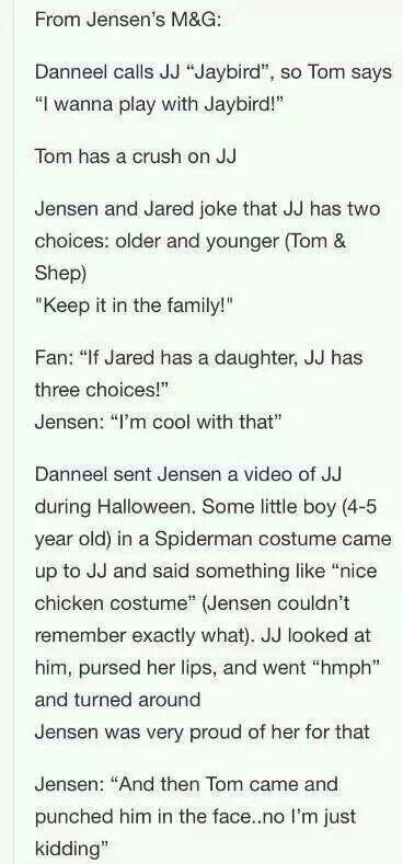 Jensen Ackles // JJ Ackles // Daughter // Thomas Padalecki // Danneel Harris Ackles