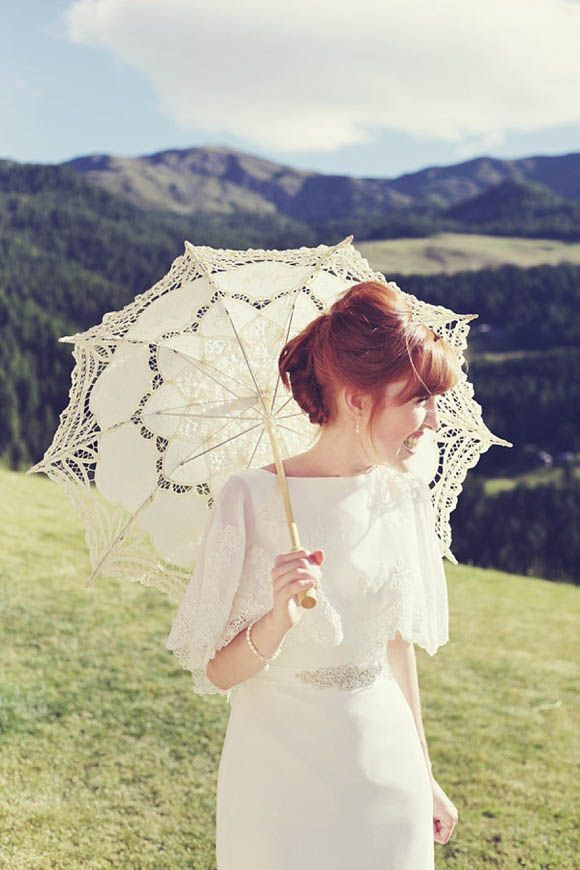 Parasols and Pretty Things ~ An Enzoani Wedding Dress for a Charming Italian Wedding