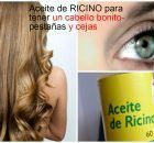 Aceite de ricino para el cabello, cejas y pestañas