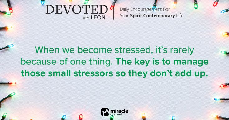 December 20 - Best Stress Reliever of All #MiracleChannel #Devoted #December