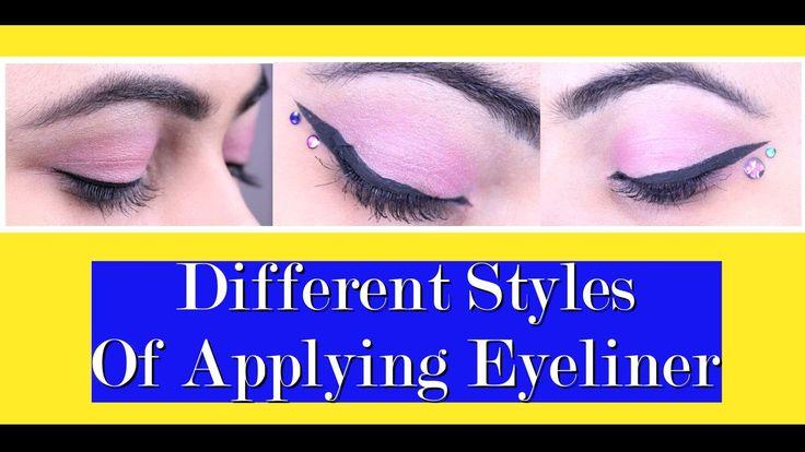 Different Styles Of Applying Eyeliner