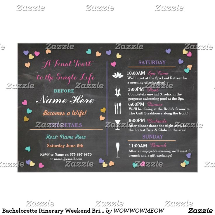design birthday party invitations free%0A Bachelorette Itinerary Weekend Bridal Shower Spa Card  Bachelorette  ItineraryBachelorette Party InvitationsBachelorette