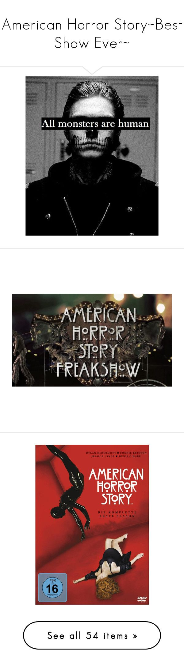 """American Horror Story~Best Show Ever~"" by black-veil-brides-forever ❤ liked on Polyvore featuring pictures, black and white, quotes, photos, words, fillers, text, phrase, saying and american horror story"