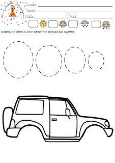 Meus Trabalhos Pedagógicos ®: Atividades coordenação motora - automóveis