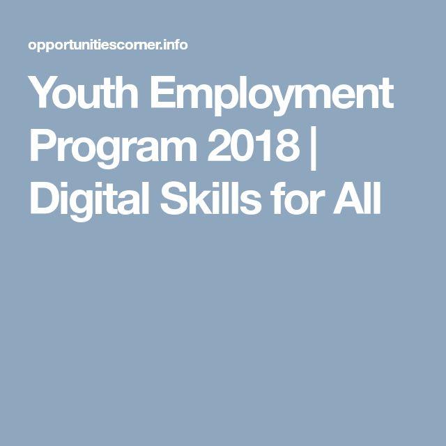 Youth Employment Program 2018   Digital Skills for All