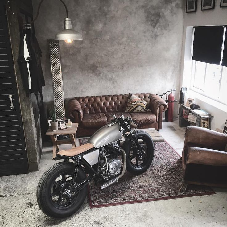 Perfect place for the bike via relicmotorcycles