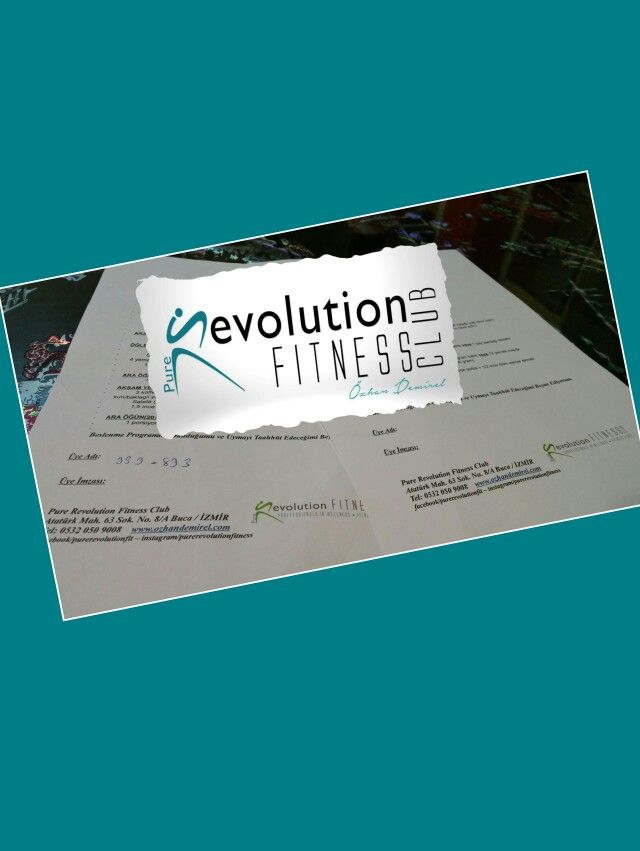 İki beslenme programı arasında var olan fark ne kalori farkı ne de sihirli bir formül. 11 günde rahat bir şekilde verilen 3.5 kg. ve motivasyonu ilk günkü gibi devam eden azimli bir bayan üye.  Pure Revolution  Pure Love ...   Pure Revolution Fitness Club bir spor salonu değil Fitness Kültür Merkezidir. Siz de aramızda yerinizi alın ...   Pure Revolution Fitness Club  Tel. : 0232 442 33 32  GSM : 0532 050 90 08  Web : ozhandemirel.com  Adres : Atatürk mah. 63 sok. No.8/A Buca / İzmir (Buca…