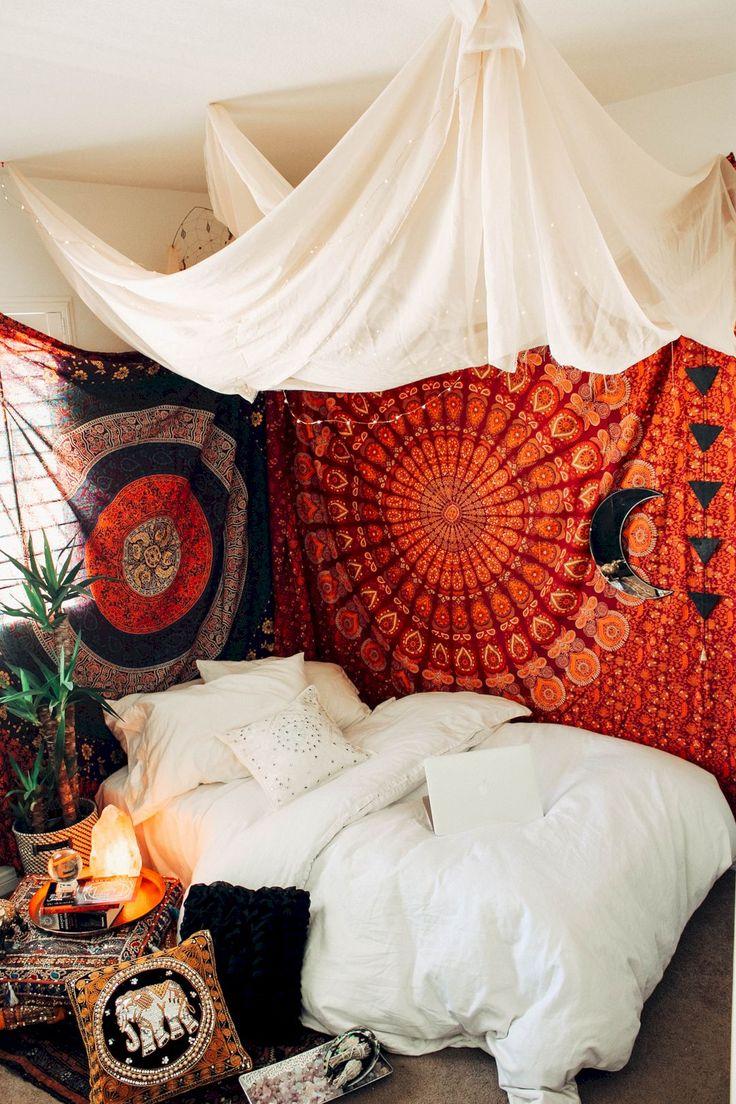 57 Entzückende böhmische Schlafzimmer Dekor Inspirationen