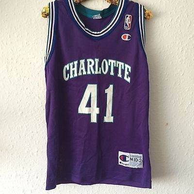 #Vintage kids #charlotte hornets glen rice #1990s basketball sport shirt 8-9,  View more on the LINK: 	http://www.zeppy.io/product/gb/2/262805405769/