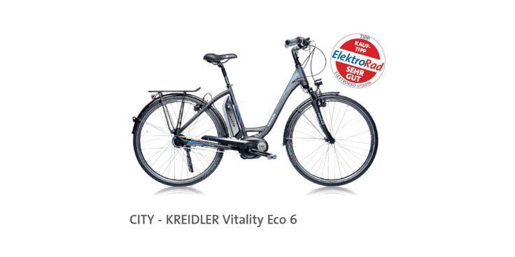 """Miejski rower elektryczny Kreidler Vitality Eco 6 wyróżnia się innowacyjnością oraz komfortem i stabilnością jazdy – tak oceniła redakcja niemieckiego magazynu """"ElektroRad"""" (nr 01/2016). W całym teście wspomniany model otrzymał ocenę """"bardzo dobry"""". Jak wskazali recenzenci, innowacyjna i bardzo dobrze przemyślana konstrukcja związana z nietypowym położeniem baterii, pozytywnie wyróżnia ten rower na tle konkurencji. Więcej: bit.ly/1TkgJfj"""