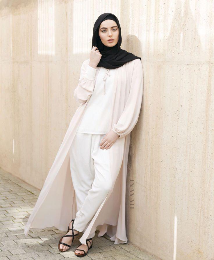 INAYAH   Minimal looks perfect for Spring: Stone Tie Neck #Kimono + White Crepe…