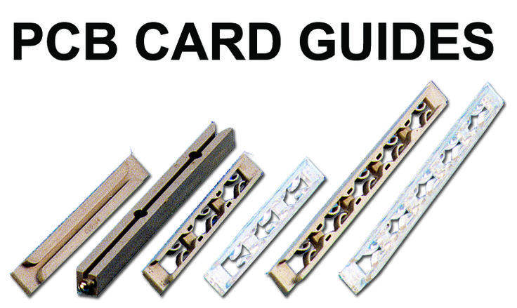 """PCB CARD GUIDES These card guides are for use in standard 19"""" Rack systems. The molded in fingers act as pressure pads to withstand vibration. It has snap fixing facility needs no mounting hardware. Available in Engineering Thermoplastic ABS and polycarbonate material.  These are for mounting P. C. card 1/ 16"""", thick Guide. #PCBCardGuides #PCBGuides #PCB #CardGuides #GaurangEnclosures Mfg: www.gaurang.com"""