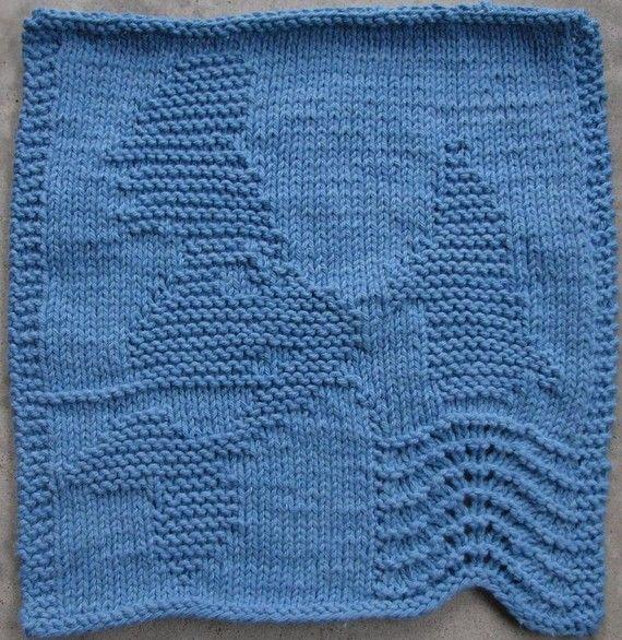 Mermaid Dishcloth PDF Knitting Pattern knit dishcloths ...