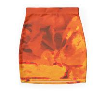 Eruption Mini Skirt available at http://www.redbubble.com/people/chrisjoy/works/24197821-eruption