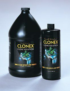 Clonex Clone Solution, 1 qt by Hydrodynamics International. $31.00. Clonex Clone Solution, 1 qt. Contact Flora Hydroponics today!. Backed by 100% manufacturer's warranty.. Another quality gardening product from Hydrofarm!. Have Questions about this product, or other Grow Supplies?. Clonex Clone Solution is a clone-specific nutrient formulated using a special blend of minerals, vitamins, wetting agents and root promoters. Used with Clonex Gel, Clonex Clone Solution encourage...