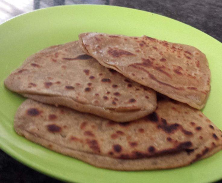 Paratha (Yeast free layered flat bread)