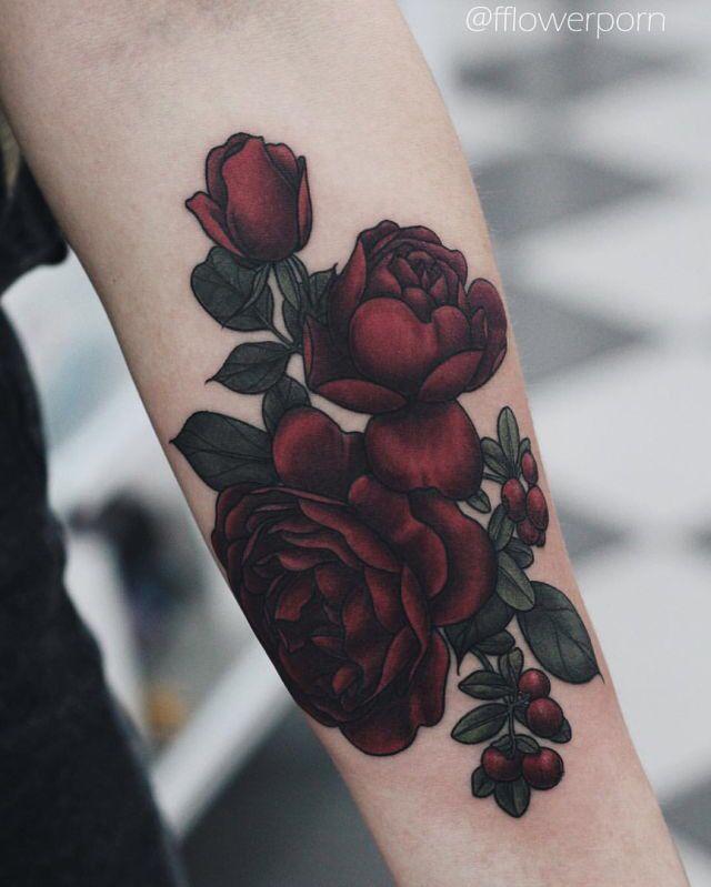 Rose tattoo.