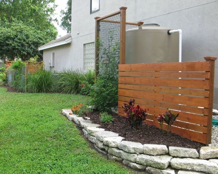7 best ideas for hiding water tanks images on pinterest for Gardens pool supply