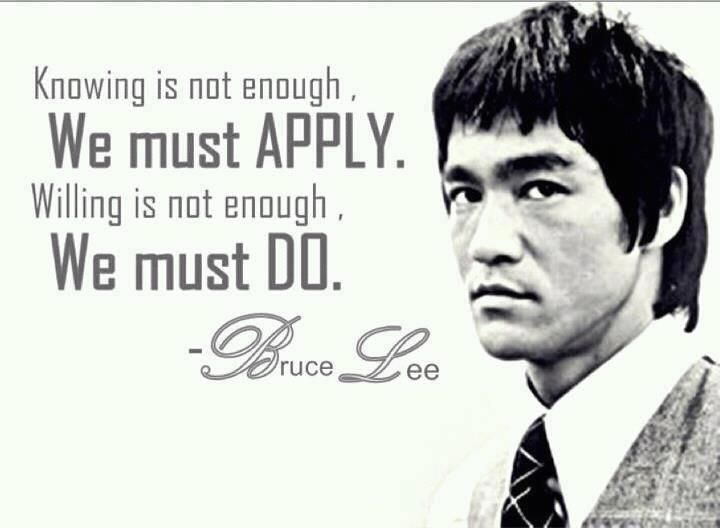 Quote of the Week, 04/06/13: BruceLee always knew how to approach life,