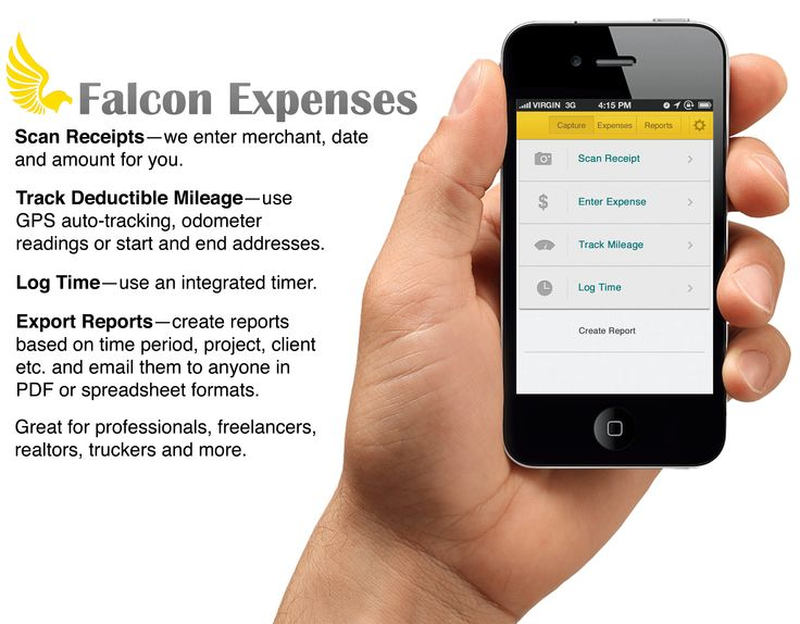 Best Falcon Expenses Mobile Expense Tracking Software