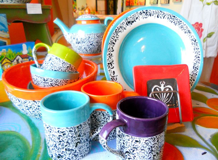 Susan Whitham's ceramics are bold and bright