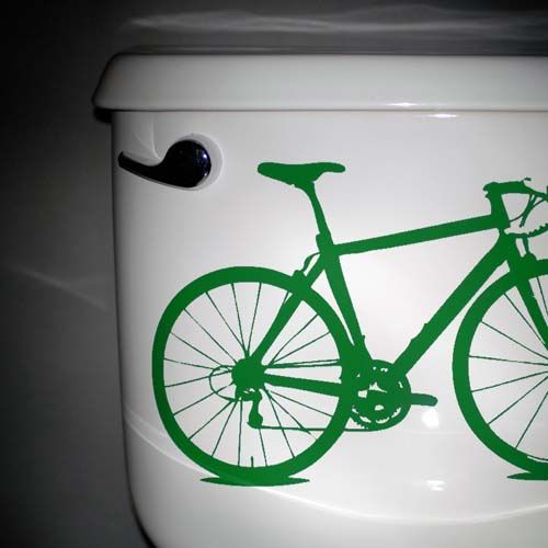 Ok - so you are #bike crazy...  embrace it by sticking these vinyl #bicycle decals everywhere around the house
