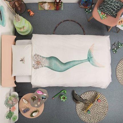 Nieuw in het assortiment van Smulderstextiel.nl: het SNURK Mermaid dekbedovertrek #meisjeskamer #zeemeermin