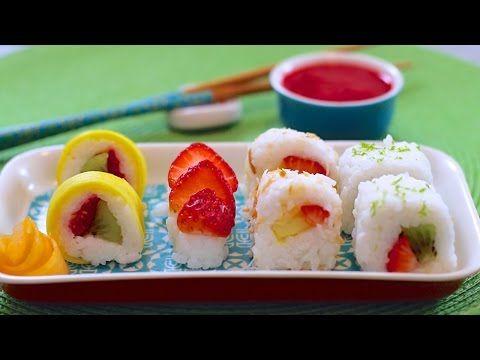 Fresh Fruit Sushi Dessert - Gemma's Bigger Bolder Baking