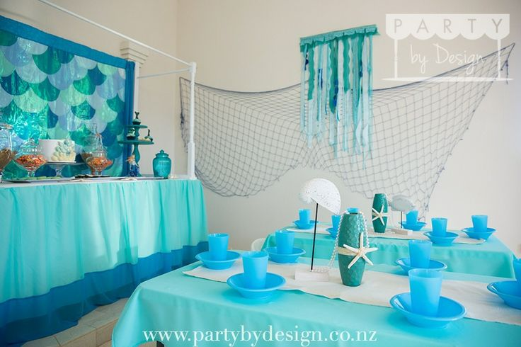 Mermaid themed children's party package.   Contact us at party@partybydesign.co.nz