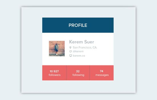 Profile badge #ui design
