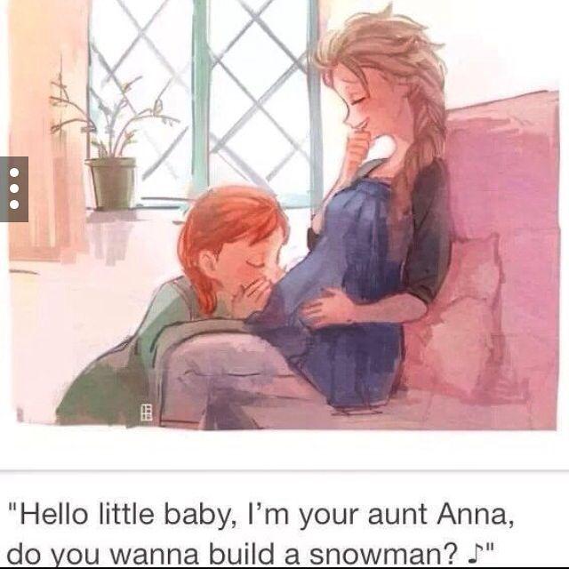 Elsa and Jacks baby ft Anna awwww