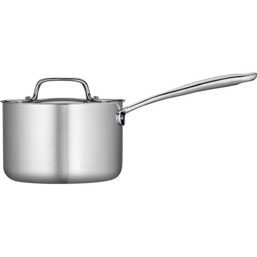 Sauce Pan Lid Tri-Ply Clad Construction Stainless Steel Dishwasher Safe 2-Qt #PotsHome
