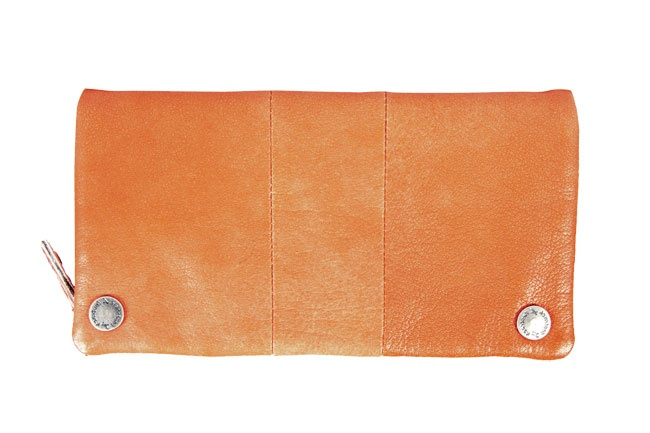 Bi-fold long wallet in soft leather with logo embossed rivets. Wallets from Fastrack http://www.fastrack.in/product/c0326lbr01/?filter=yes=india=9=4&_=1334231927426