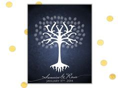 White Tree of Gondor Thumb Print Wedding Guest Book Alternative by Chameleon Weddings!