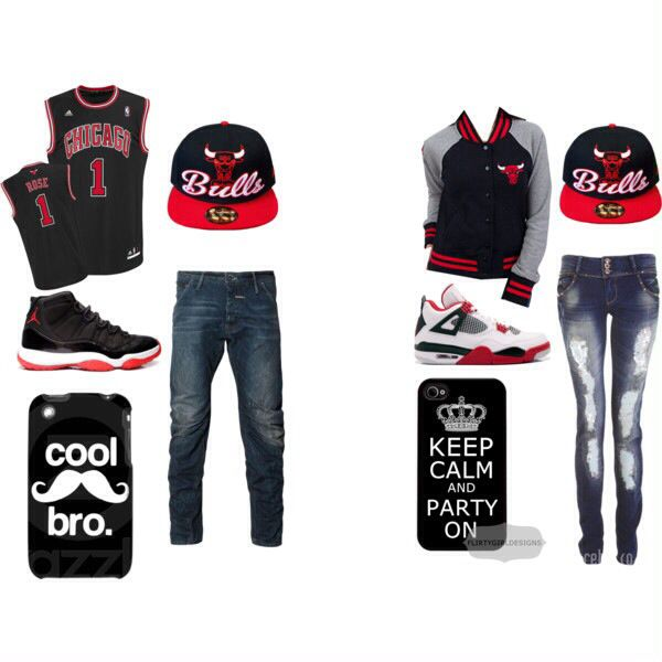 Matching Bulls outfits for couples
