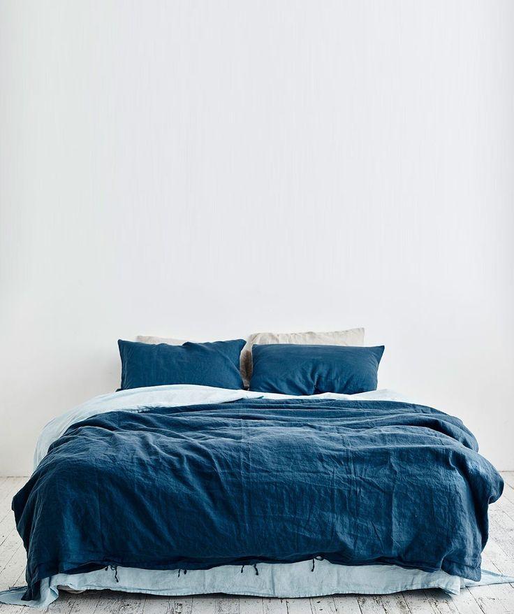 Indigo Linen Duvet Set - Quilt Covers - Bedroom - Homeware