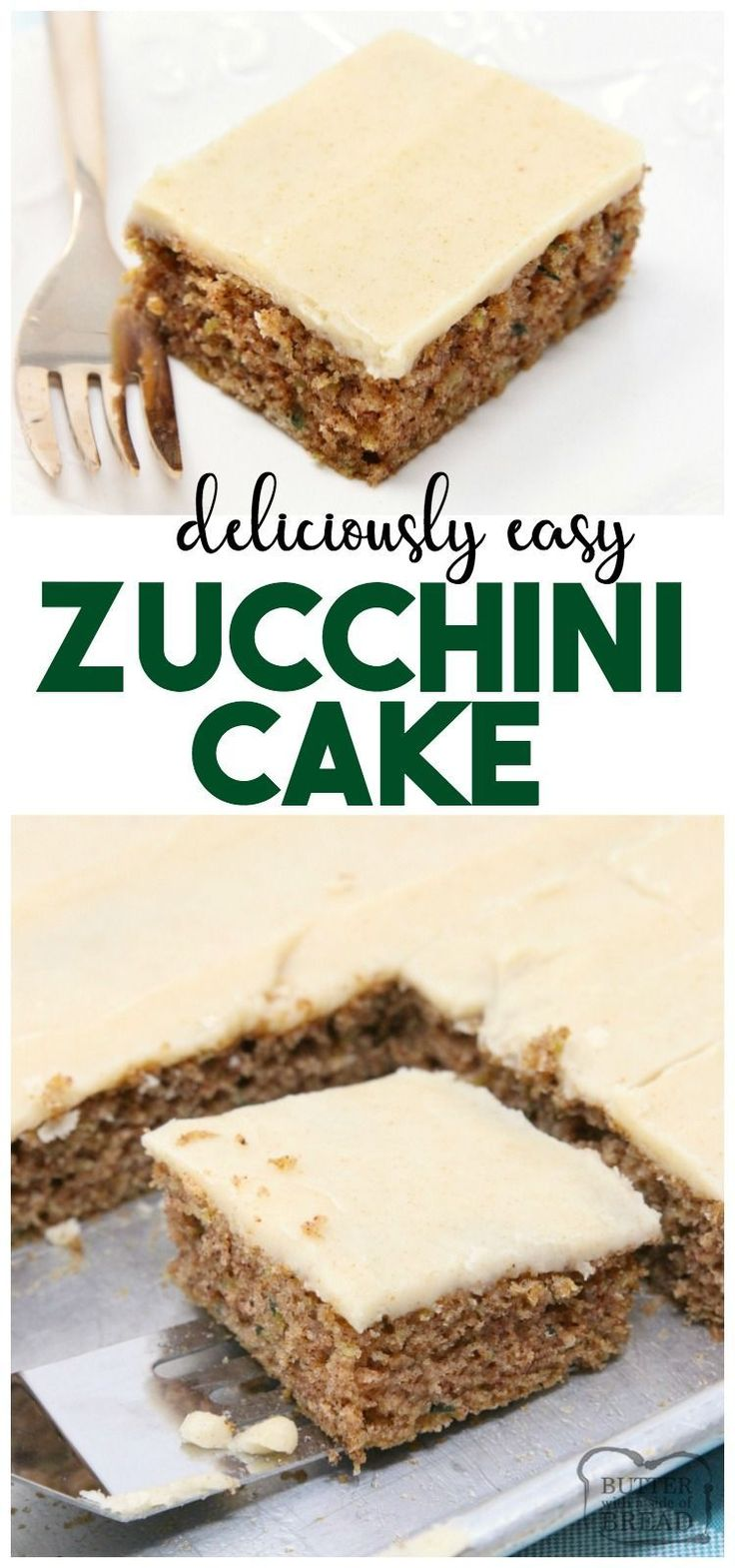 ***Easy Zucchini Cake with Cream Cheese Frosting ~ made with freshly grated zucchini and a lovely blend of spices to create a perfectly sweet, simple Zucchini Cake. Sheet cake instructions included as well!
