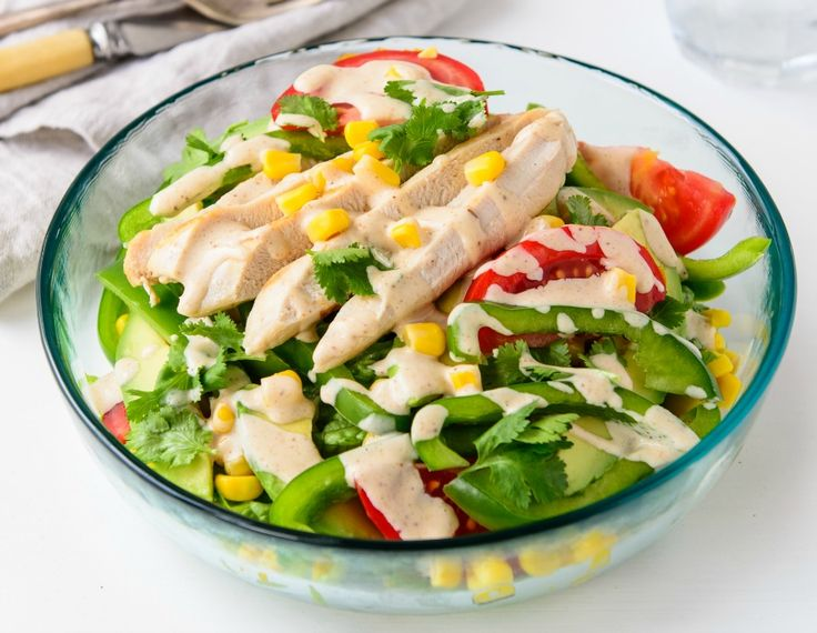 Check out the recipe for this quick and easy Fresh And Tasty Southwest Chicken Salad. The perfect summer lunch or light dinner.