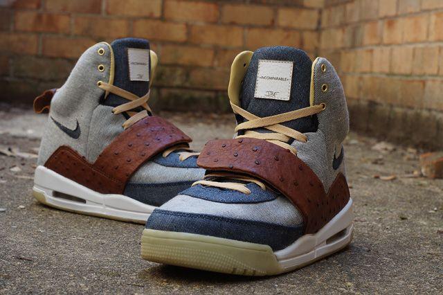 JBF CUSTOMS NIKE AIR YEEZY 1(OSTRICH & DENIM) | Sneaker Freaker