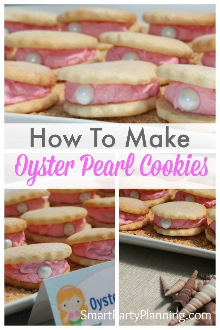 Oyster cookies are perfect for an under the sea or mermaid party. Oyster cookies are incredibly easy to make and will look fantastic on the food table.