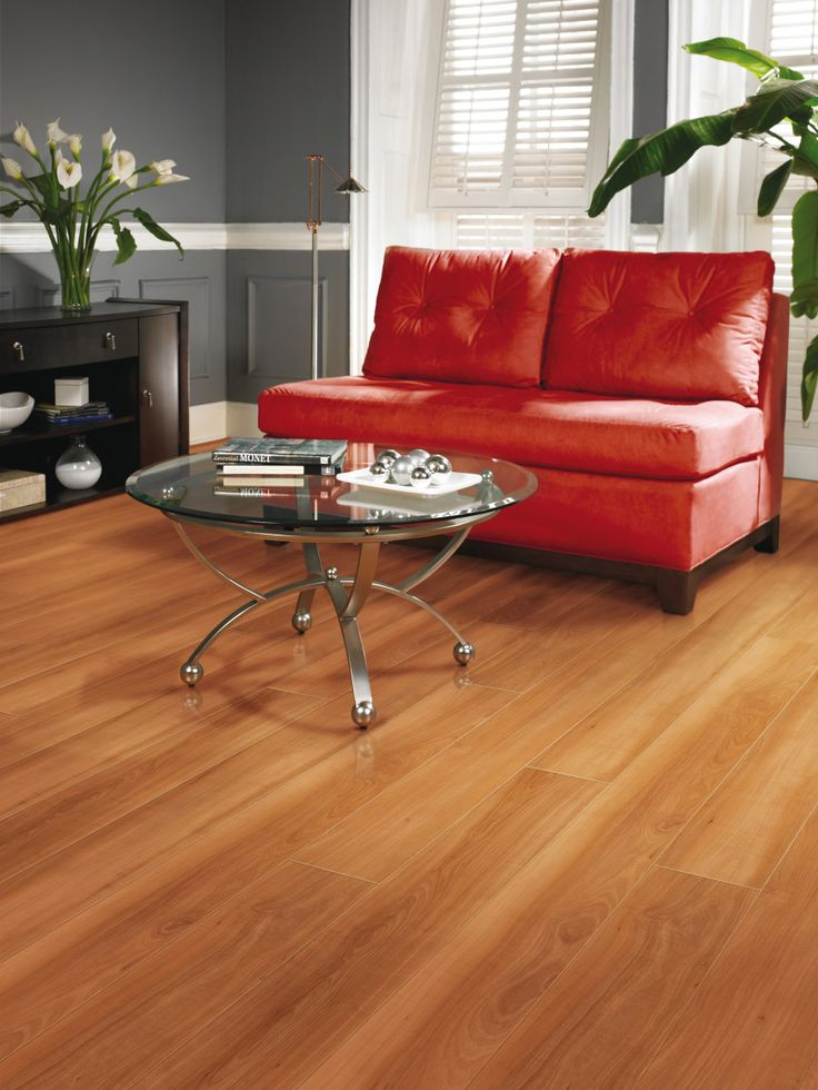 Floor Hardwood Classic Wood Floor For Dining Room With A Red Sofa And Table Glass