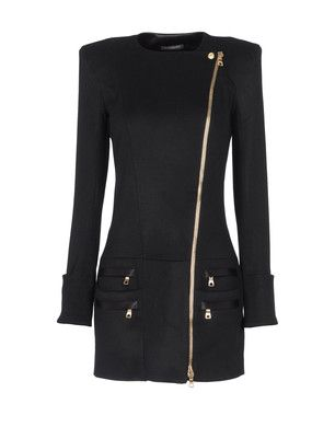 LOVEEEE this Balmain coat.   The asymmetrical zipper!!