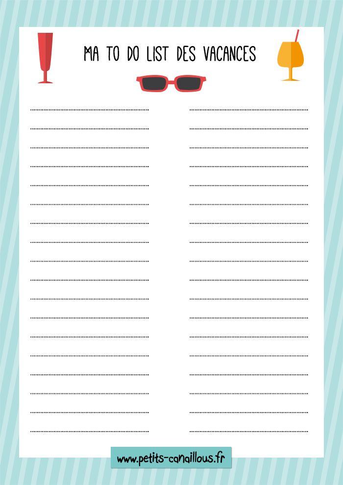Petits canaillous | Ma to-do-list des vacances – printable | http://www.petits-canaillous.fr