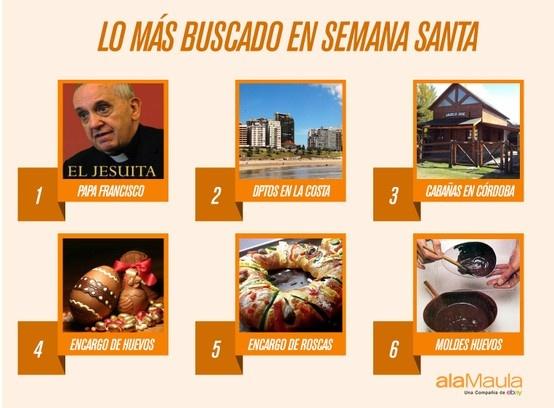 Lo más buscado para Semana Santa en www.alaMaula.com