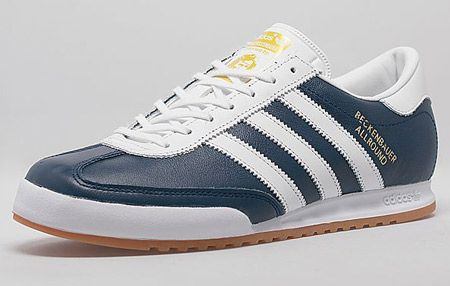 1980s Adidas Beckenbauer All-round trainers return in a blue leather finish
