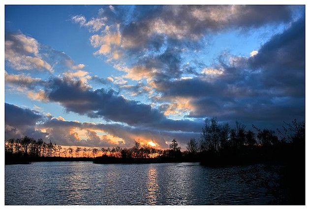 Sunset at the Zwettepoel near Joure, Friesland - The Netherlands