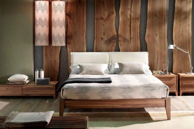 camera da letto in noce naturale