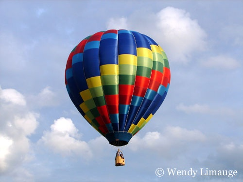 Hot air ballooning in Connecticut during the Summer months.