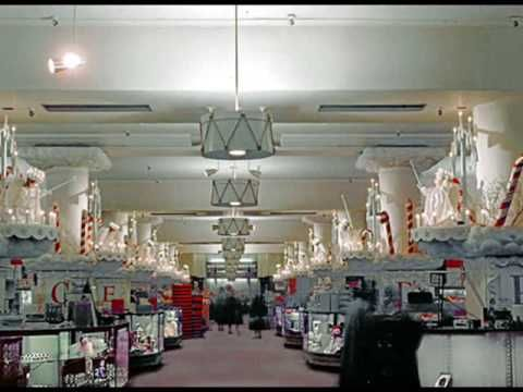 MARSHALL FIELDS--CHICAGO-This is a great depiction of the famous Marshall Field's Department store @ Christmas.. -Vintage treat!! Many many fond memories of decades gone by..