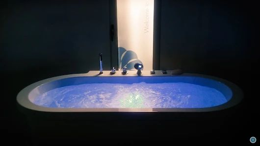 It's Friday…Relax and unwind in our warm Jacuzzi in  #Helios Suite!  Book your stay at #Elakati through our website and enjoy: http://www.elakati.com/